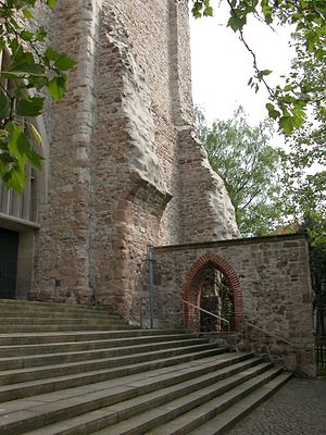 Aegidienkirche, Braunschweig - West end and remains of the tower