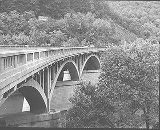 Bridge in Snake Spring Township bridge in United States of America