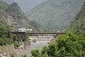 Bridge over River Sutlej - Chandigarh-Manali Highway - NH-21 - Slapper - Mandi 2014-05-09 2133.JPG