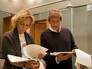 Brief Encounter - Jenny Seagrove and Nigel Havers rehearsing