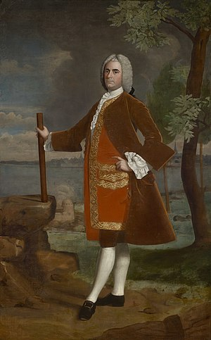 Robert Feke - Robert Feke, Portrait of Brigadier General Samuel Waldo, c. 1748–50, collection of the Bowdoin College Museum of Art, Bowdoin College, Brunswick, Maine