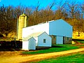 Bright White Barn, First Barn was Destroyed by a F2 Tornado - panoramio.jpg