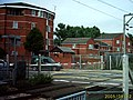 Brimsdown level crossing viewed from station - geograph.org.uk - 939734.jpg