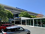 Brisbane International Terminal with access viaducts to the Arrivals and Departures levels in front of the building 01.jpg