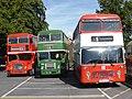 Bristol Lodekka (1967 & 1962) & VRT (1977) (36628281275).jpg