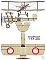 Bristol Scout C British First World War fighter biplane drawing in RNAS markings.jpg