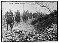 British Cavalry passing thro' wrecked village LOC 19325685472.jpg