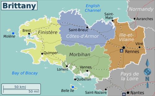 Brittany Travel guide at Wikivoyage