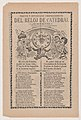 Broadsheet relating to the new clock installed in the cathedral in Mexico City in June 1905 MET DP867940.jpg
