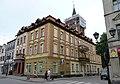 Brodnica - w prawo ul Farna widok wieży kościoła w remoncie - panoramio.jpg