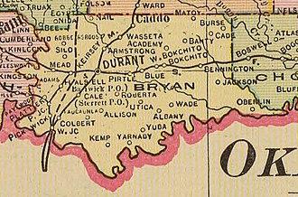 Bryan County, Oklahoma - Map of Bryan County, 1909