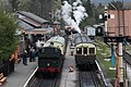 Buckfastleigh SDR50 - 6430+232 and Autotrain 178-163+6412.JPG