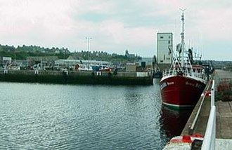 Buckie - Cluny Harbour, with town in background
