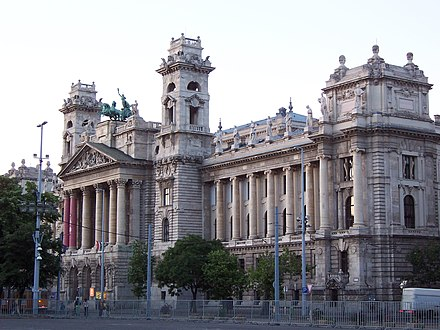 Old building (from 1890) of the Hungarian Royal Curia, that operated as the highest court in the Kingdom of Hungary between 1723 and 1949. Now it houses a museum. Budapest Etnographical museum1.JPG