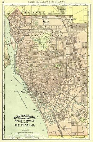 History of Buffalo, New York - Buffalo Street Map, 1892