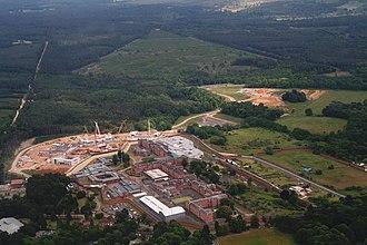 Broadmoor Hospital - Building work at Broadmoor-aerial 2015