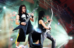 Michael Paget (left) And Matthew Tuck (right) At 2006u0027s Roskilde Festival  Held In Denmark. Bullet For My Valentineu0027s Debut Album ...
