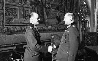 Erwin von Witzleben - Witzleben (r.) and Gerd von Rundstedt in France, March 1941