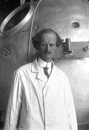Red Rackham's Treasure - Calculus was visually based upon the scientist Auguste Piccard.