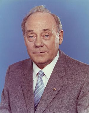Free German Trade Union Federation - Harry Tisch, FDGB chairman from 1975 to 1989.