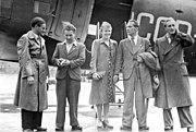 Bundesarchiv Bild 183-R71089, Berlin, Rückkehr FDJ-Delegation aus Sowjetunion
