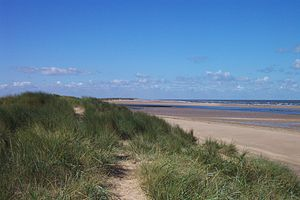 Burnham Overy - The sand dunes, beach and harbour mouth