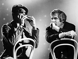 Burt Bacharach - Bacharach with Stevie Wonder in the 1970s
