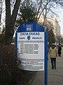 Bus board in Kövesdomb in Marosvásárhely.jpg