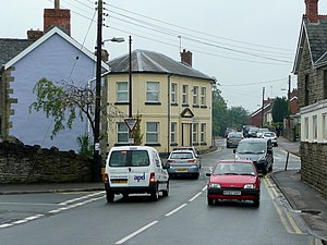 Coalway - Image: Busy junction in Coalway geograph.org.uk 1345159