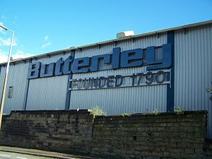 The Butterley Engineering sign in 2006