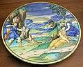 C.sf., urbino, pittore del marsia di milano, tondino con uccisione di una figlia di niobe, 1525-1535 circa.JPG