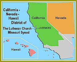 Map Of California And Hawaii.California Nevada Hawaii District Of The Lutheran Church Missouri