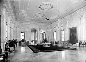 Merdeka Palace - Reception room of the Palace in 1936