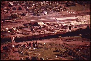 Cloquet, Minnesota - Former Con-Wed plant (now a USG Corporation facility) in Cloquet, 1973