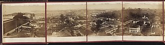 Straits Settlements - Singapore from St Andrew's Church Spire, 1863.
