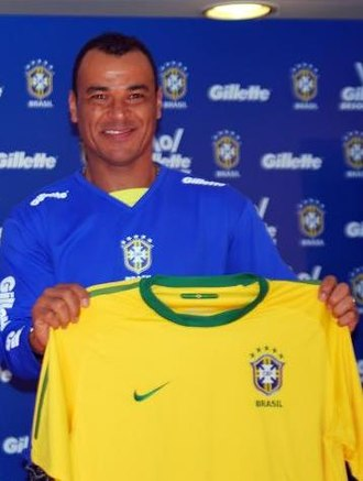 Cafu - Cafu at a Gillette promotion with Brazil in 2010
