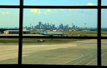 View of Calgary downtown from International Ai...
