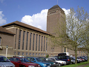West Road, Cambridge - The Cambridge University Library, located to the north of West Road.
