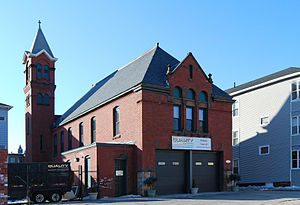 Cambridge Street Firehouse - Image: Cambridge Street Firehouse Worcester