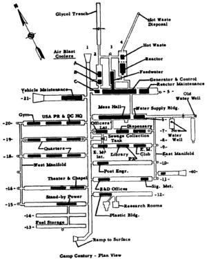 Camp Century - Plan of base