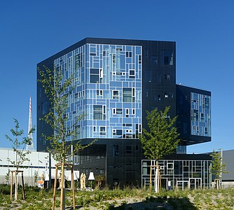 Campus of the Vienna University of Economics and Business, building EA (Executive Academy), planned by NO.MAD Arquitectos (Madrid), Welthandelsplatz 1, 2nd district of Vienna