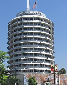 Siège social de Capitol Records sur Hollywood Boulevard