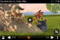 Captura de pantalla de VLC para Android 0.9.11 reproduciendo Big Buck Bunny.png