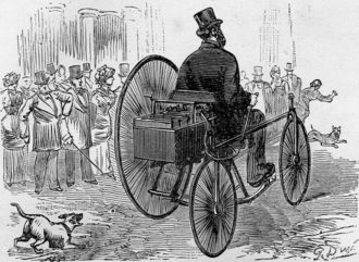 Gustave Trouve's tricycle, the first ever electric automobile to be shown in public Capture d'ecran 2016-10-14 a 21.26.28.png