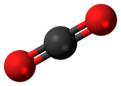 Ball-an-stick model o carbon dioxide