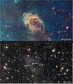 Carina Nebula (visible and infrared light).jpg