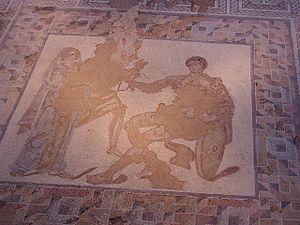 Carranque - Briseis and Achilles.