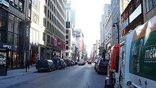 Saint Catherine Street Street in Montreal, Canada