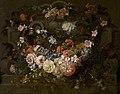 Cartouche met bloemen, circa 1664 - circa 1730, Groeningemuseum, 0040472001.jpg