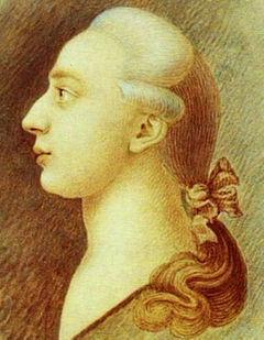 Chalk sketch of Giacomo Casanova